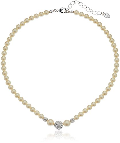 Carolee 6 mm Pearl Center Necklace, 15.5 + 2