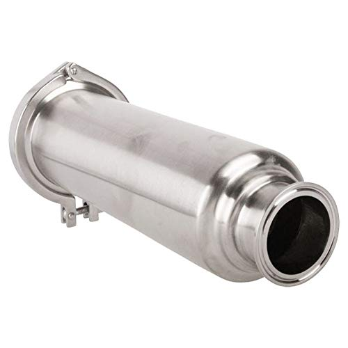 BOKYWOX 1.5'' Filter Tri-Clamp Sanitary SS304 Inline Straight Strainer with 100 Mesh Stainless Steel Screen