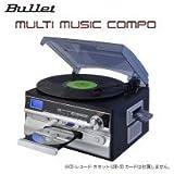 レコード・カセット・CD・AM/FMラジオ等が1台で楽しめる BULLET マルチミュージックコンポ MLC-100K