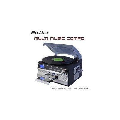 レコードカセットCDAM/FMラジオ等が1台で楽しめる BULLET マルチミュージックコンポ MLC-100K B07DBBQPXR