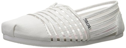 Skechers BOBS From Women's Plush-#Adorbs Flat, White Adorbs, 8 M US