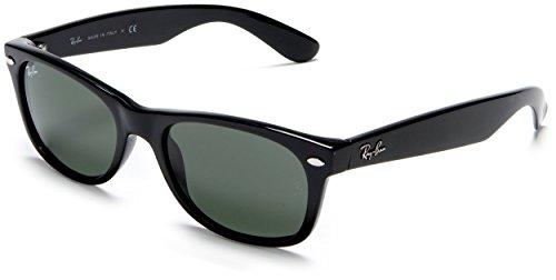 Ray-Ban NEW WAYFARER - BLACK Frame CRYSTAL GREEN Lenses 52mm - Ray Frames Cheap Ban