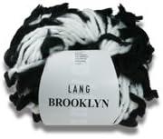 Black/&White Farbe01 wei/ß mit schwarzen F/äden Sonderangebot!! 100g Lang Yarns Brooklyn
