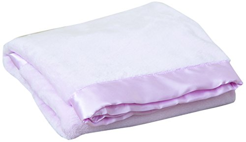 Terry Town KP1706-BB Pink-1 Satin Trim Tahoe Microfleece Baby Blanket, Bb