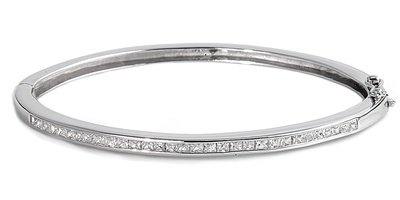 Petits Merveilles D'amour - Bracelet Manchette Femme - Argent Fin 925/1000 - Oxyde de Zirconium