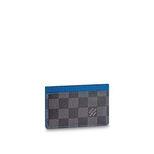 (Louis Vuitton Damier Graphite Bleu Card Holder N64029 )