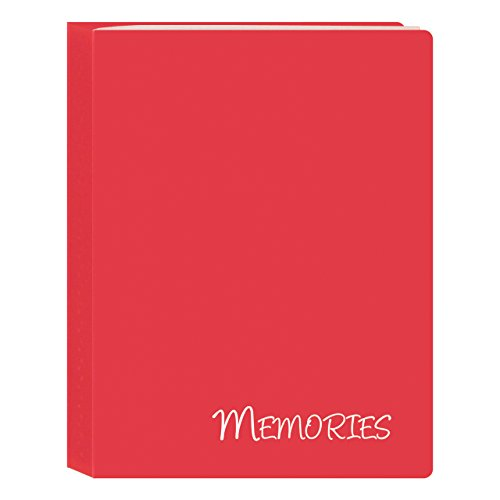 Memories Mini Photo Album (Pioneer Photo Albums I-46M/RD 36 Pockets Hold Memories Mini Photo Album, Red, 4