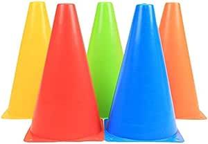 Training Cones Traffic Plastic Basketball Basketball Marker Barrel Skating Barrier Obstacle Training Cones Set of 5