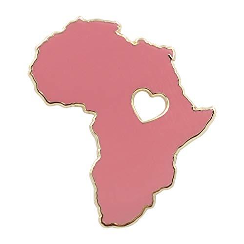 REAL SIC Africa Pin - Wakanda Forever, BLM, Black Panther Enamel Pin (Matte Red)