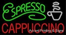 Espresso Cappuccino LED Sign (High Impact, Energy Efficient) -