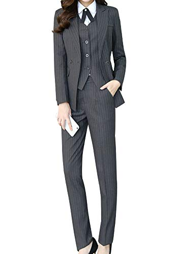 Women's Three Pieces Office Lady Stripe Blazer Business Suit Set Women Suits Work Skirt/Pant,Vest Jacket - Fashion 3 Piece Suit