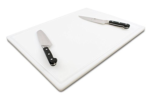 (Commercial Plastic Carving Board with Groove, NSF Certified, HDPE Poly (24 x 18 x 0.75 Inch,)