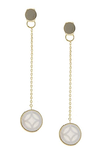 BAUBLES & CO SHELL DISK ACCENT EAR JACKETS (Gold)