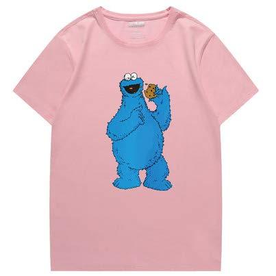 rose XXXL T-Shirt Sesame rue KAWS Tendance à Manches Courtes pour Hommes Et Femmes rose-XL