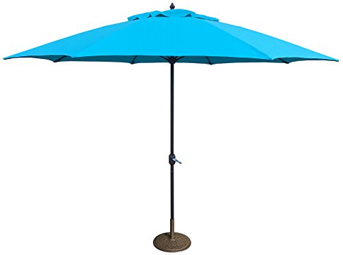 Tropishade 11' Umbrella with Premium Turquoise Olefin Cover