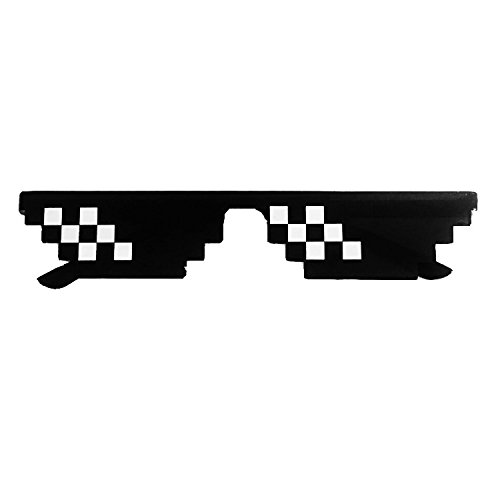 Thug Life Pixelated Sunglasses Mosaic Glasses Party Deal With It MLG Shades Toy - 8bit Shades