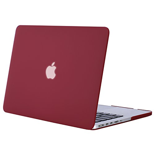 (MOSISO Plastic Hard Shell Case Cover Only Compatible MacBook Pro 13 Inch with Retina Display No CD-ROM (A1502/A1425, Version 2015/2014/2013/end 2012), Wine Red)