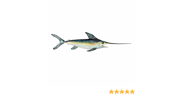 Collectible Swordfish Hanging Wall Decor Vibrant Funky Colors 31 inch 1