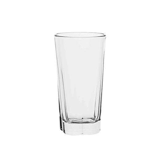 AmazonCommercial Drinking Glasses, Highball – Set of 8, Clear, 11.5 oz
