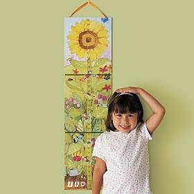 eeBoo Sunflower Growth Chart - Eeboo Growth Chart