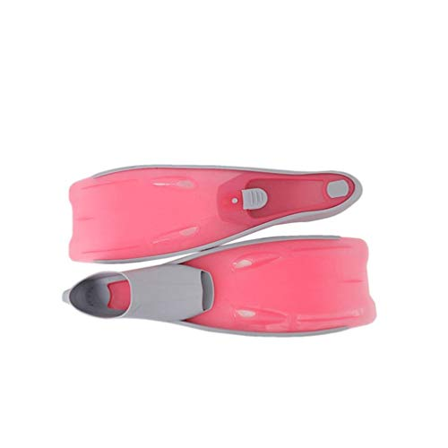 (Long Fins Snorkeling Equipment Swimming Frog Shoes Diving Equipment Full Foot Pink S)
