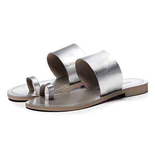 Sandali 37 da Pelle Donna Scarpe Dimensioni Scarpe Scarpe estive in Silver Colore Casual e Basse vaa6qI