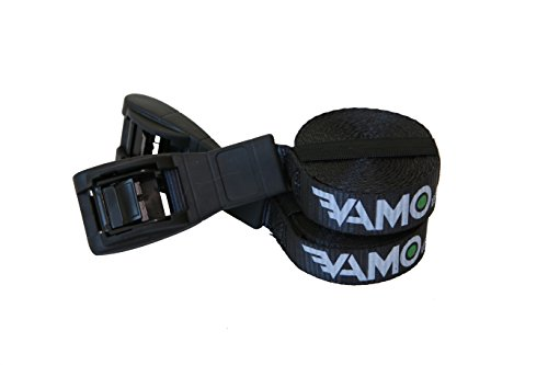 Vamo Premium 'No Scratch' Silicone Buckle Surf or SUP Tie Down Straps For Surfboards, Paddle Boards, Kayaks and Canoes (Two Pack) by Vamo