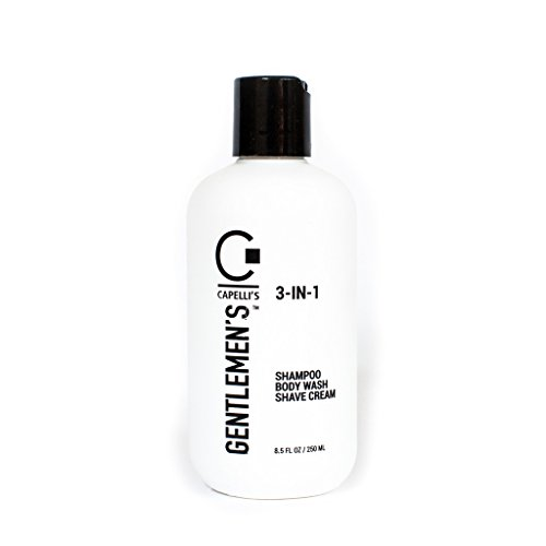 Capelli's Gentlemen's 3-IN-1 Shampoo/Body Wash/Shave Cream Rich Lather for All Hair Types, 8.5 FL OZ by Capelli's