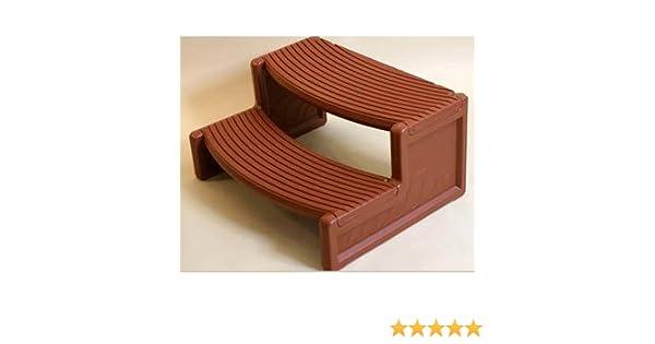Escalera de resina para un acceso a una pequeña piscina o spa: Amazon.es: Jardín