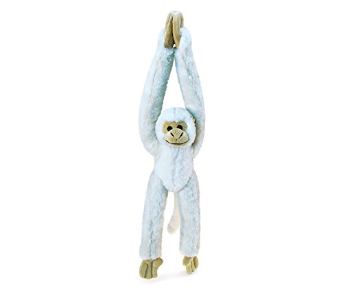 Puzzled Long Arm Hanging White Squirrel Monkey Super-Soft Stuffed Plush Cuddly Animal Toy - Animals / Wild Animals / Zoo Animals Theme - 21 INCH - Unique huggable loveable New friend Gift - Item #5356