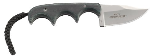 CRKT Minimalist Bowie Compact Fixed Blade Knife with Sheath by Alan Folts