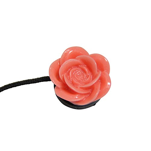 Spring Rose Camera Lens Cap Saver - Coral