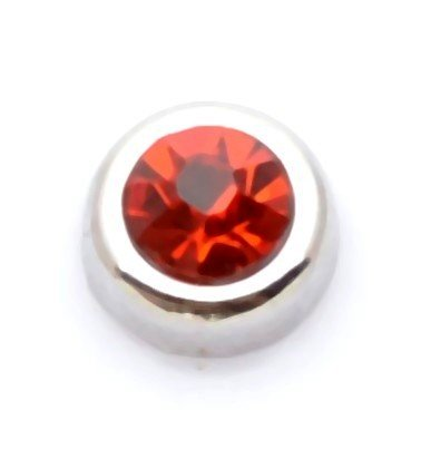 Cherityne Round July Birthstone Ruby Red Crystal Floating Charm for Locket Pendants ()