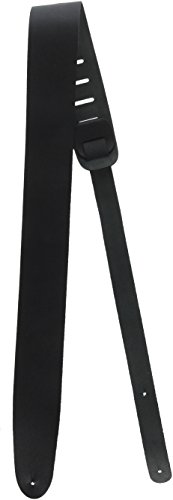Performance Plus GSL25-BK Classic Black Leather Guitar Strap with String Winder (GSL25-B)