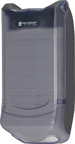 San Jamar H5004P Venue Wall Mount Mini Interfold Napkin Dispenser, 600 Capacity, 8'' Width x 15-3/4'' Height x 5-9/10'' Depth, Clear by San Jamar (Image #6)