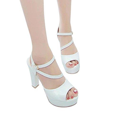7cm Tacco Dragon868 Bianco 2018 Sandali Scarpe Alto Donne Eleganti Estive TAg6Uq