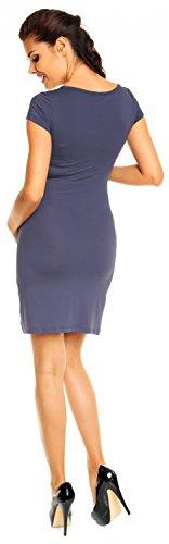 Zeta Ville - abito prémaman a pieghe in jersey di viscosa stretch - donna - 081c Azul Gris