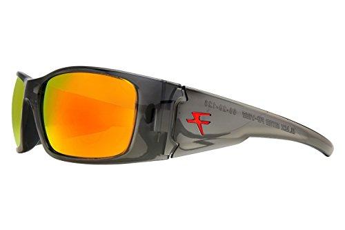 34b78199195 Fatheadz Eyewear Men s Nitro V2.0 FH-V122-2RD Polarized Wrap Sunglasses