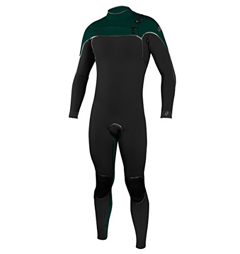 O'Neill Men's Psycho One 4/3mm Chest Zip Full Wetsuit, Black/Reef, Small (Standard Wetsuit Full)