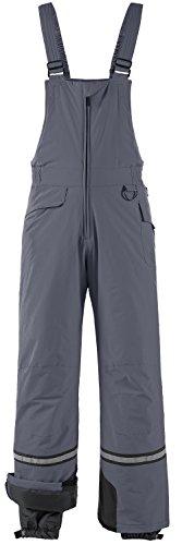 Wantdo Men's Waterproof Padding Insulated Snow Pants Ski Bib Pant X-Large Grey ()