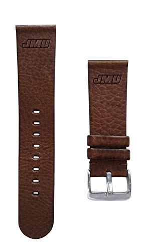 - Affinity Bands James Madison University Dukes 22mm Premium Leather Watch Band - Compatible with Samsung, Garmin, Fossil Fitbit and More.