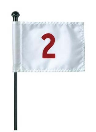 Standard Golf Numbered (1-9) Practice Green Flag Set - Standard Flag Golf Golf