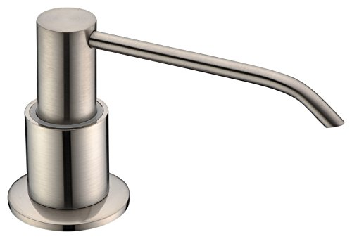 Avola Solid Brass Pump Head Kitchen Sink Soap Dispenser,Brushed Nickel ()