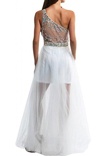 Toscana lncantevole ONE-Shoulder stanotte sposa extra lungo tulle un'ampia abiti da sera mode Ball Party