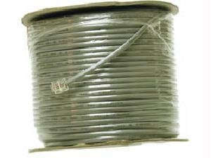C2G 07192 28 AWG 4-Conductor Silver Satin Modular Flat Telephone Cable Reel, Silver Jacket (500 Feet, 152.4 Meters)