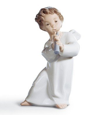 Lladro Angel With Flute Figurine by Lladro