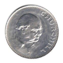 1965 UK Great Britain English Crown (5 Shillings) Winston Churchill Commemorative Coin KM#910 (Churchill Coin Commemorative)