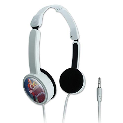 (GRAPHICS & MORE Christmas Holiday Santa Going Down The Chimney Novelty Travel Portable On-Ear Foldable Headphones)
