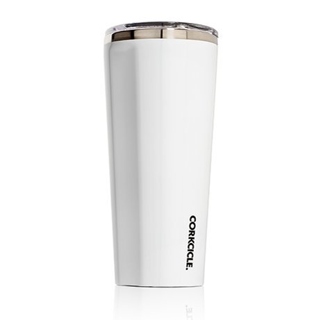 Corkcicle Tumbler Insulated Stainless Steel Bottle/Thermos, 24 oz, White by Corkcicle