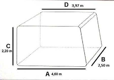Gr/ö/ße XXL: L//B//H 7,10 x 2,50 x 2,20 m Basic Wohnwagenabdeckung Wohnwagenh/ülle Verschiedene Gr/ö/ßen Toppreis!